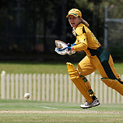 Jodie Fields batting during the ICC Women's World Cup Cricket play off for third place between Australia and India at Bankstown Oval, Sydney, Australia on March 21, 2009. India beat Australia by three wickets. Photo Tim Clayton