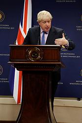 September 27, 2016 - Ankara, Turkey - Sep.27, 2016 - British Foreign Secretary Boris Johnson speaks at Press conference in Ankara. (Credit Image: © Tumay Berkin via ZUMA Wire)