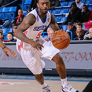 Delaware 87ers Guard RUSS SMITH (5) drives towards the basket in the second half of a NBA D-league regular season basketball game between the Delaware 87ers and the Westchester Knicks Tuesday, JAN, 19, 2016 at The Bob Carpenter Sports Convocation Center in Newark, DEL