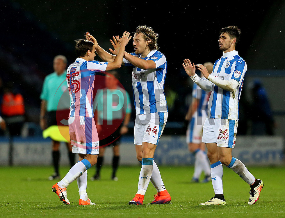 Huddersfield Town players celebrate at full time - Mandatory by-line: Matt McNulty/JMP - 10/12/2016 - FOOTBALL - The John Smith's Stadium - Huddersfield, England - Huddersfield Town v Bristol City - Sky Bet Championship