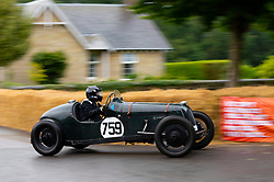 Boness Revival hillclimb motorsport event in Boness, Scotland, UK. The 2019 Bo'ness Revival Classic and Hillclimb, Scotland's first purpose-built motorsport venue, it marked 60 years since double Formula 1 World Champion Jim Clark competed here.  It took place Saturday 31 August and Sunday 1 September 2019. Car 759, Mark Fountain in Gillow Special Bugatti/Riley