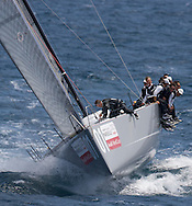 Artemis sailing upwind during race 1 of the AUDI Medcup in Marseille
