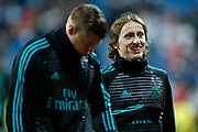 Luka Modric during the Spanish championship Liga football match between Real Madrid and Real Sociedad on February 10, 2018 at Santiago Bernabeu stadium in Madrid, Spain - Photo Benjamin Cremel / ProSportsImages / DPPI