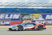 William Johnson (USA) / Stefan Mucke (DUE) / Olivier Pla (FRA) #66 Ford Chip Ganassi Racing Team UK Ford GT, WEC 6 Hours of Silverstone 2016 at Silverstone, Towcester, Northamptonshire, United Kingdom. April 17 2016. World Copyright Peter Taylor/PSP.