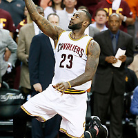 10 June 2016: Cleveland Cavaliers forward LeBron James (23) goes for the layup during the Golden State Warriors 108-97 victory over the Cleveland Cavaliers, during Game Four of the 2016 NBA Finals at the Quicken Loans Arena, Cleveland, Ohio, USA.