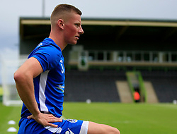 Alfie Kilgour of Bristol Rovers trains alone prior to kick off - Mandatory by-line: Paul Roberts/JMP - 22/07/2017 - FOOTBALL - New Lawn Stadium - Nailsworth, England - Forest Green Rovers v Bristol Rovers - Pre-season friendly