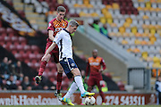 Millwall FC forward Steve Morison (20)  during the Sky Bet League 1 match between Bradford City and Millwall at the Coral Windows Stadium, Bradford, England on 26 March 2016. Photo by Simon Davies.