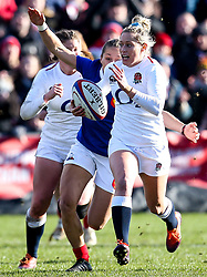 Natasha Hunt of England Women runs with the ball - Mandatory by-line: Robbie Stephenson/JMP - 10/02/2019 - RUGBY - Castle Park - Doncaster, England - England Women v France Women - Women's Six Nations