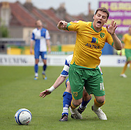 Bristol - Saturday May 1st, 2010: Chris Martin of Norwich City is fouled by Stuart Campbell (hidden) during the Coca Cola League One match at The Memorial Stadium, Bristol. (Pic by Mark Chapman/Focus Images)..