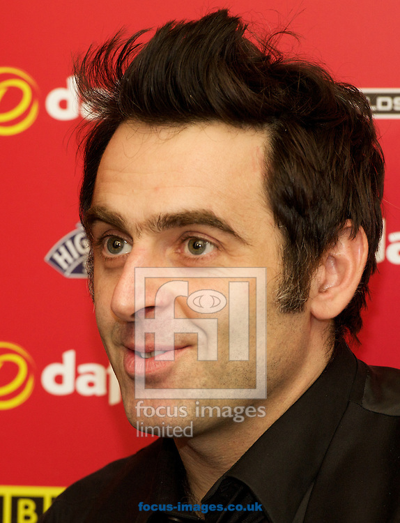 Picture by Alan Stanford/Focus Images Ltd +44 7915 056117<br /> 17/01/2014<br />  Ronnie O'Sullivan during his press call after his brilliant display with a 6-0 win in the The Masters quarter final at Alexandra Palace, London.