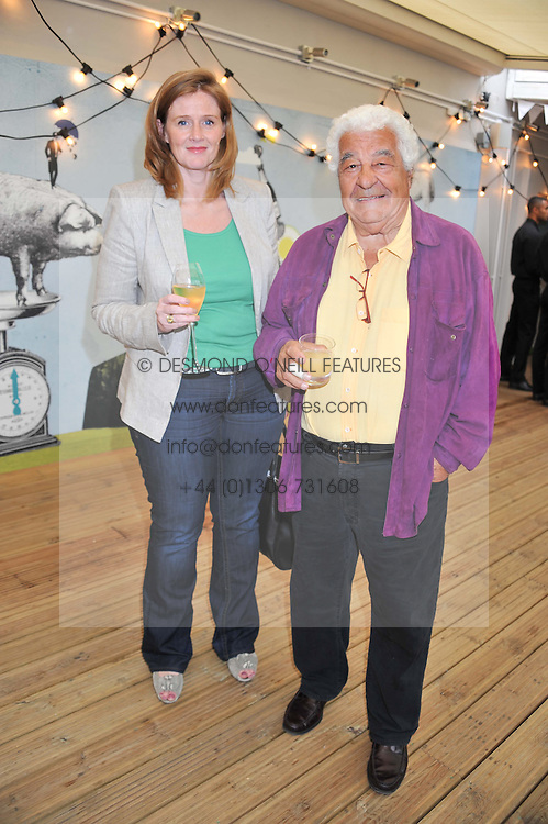 ANNA-LOUISE NAYLOR-LEYLAND and ANTONIO CARLUCCIO at a party to celebrate the publication on 'Let's Eat: Recipes From My Kitchen Notebook' by Tom Parker Bowles held at Selfridge's Rooftop. Selfridge's, Oxford Street, London on 27th June 2012.
