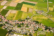 Nederland, Noord-Holland, Texel, 05-08-2014; Den Hoorn met het karakteristieke Nederlands Hervormde kerkje.<br /> Village of Den Hoorn on the isle of Texel. <br /> luchtfoto (toeslag op standard tarieven);<br /> aerial photo (additional fee required);<br /> copyright foto/photo Siebe Swart