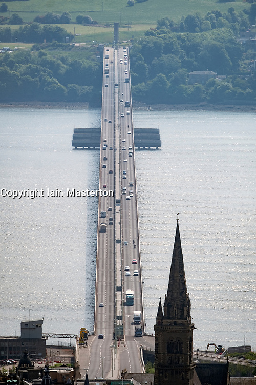 View of the Tay Road Bridge crossing the ~River Tay in Dundee, Scotland, UK
