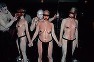 New York. Black and blue night, fetishist party,  Manhatan,  /  Black and blue night,  gala fetichiste  Manhatan, New York  USa