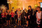 LADY MYNERS; LORD MYNERS, The Veuve Clicquot Businesswoman of the Year  Award. Claridge's, London.  March 28 2011. ,-DO NOT ARCHIVE-© Copyright Photograph by Dafydd Jones. 248 Clapham Rd. London SW9 0PZ. Tel 0207 820 0771. www.dafjones.com.