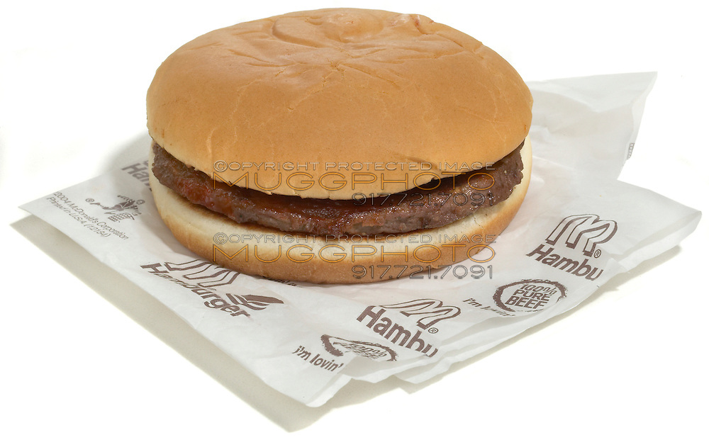 plain mcdonalds hamburger