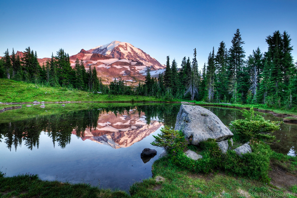 Mount Rainier & Spray Lake, Washington