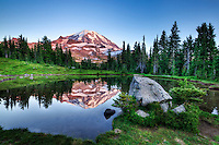 Mount Rainier & Spray Lake, Washington