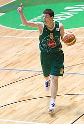 Vlado Ilievski of Olimpija during basketball match between KK Krka (SLO) and Union Olimpija (SLO) in 16th Round of NLB Adriatic League, on January 11, 2011 in Arena Leona Stuklja, Novo mesto, Slovenia. Olimpija defeated Krka 80-75. (Photo By Vid Ponikvar / Sportida.com)