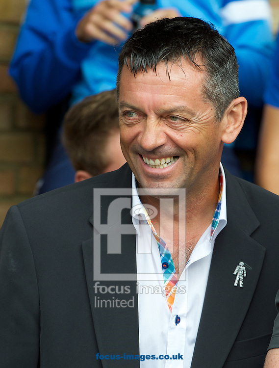 Manager Phil Brown of Southend United during the Sky Bet League 2 match at Roots Hall, Southend<br /> Picture by Alan Stanford/Focus Images Ltd +44 7915 056117<br /> 27/09/2014