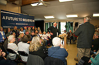 Vermont Senator Bernie Sanders speaking engagement at the Weirs Beach Community Center.  Karen Bobotas for the Laconia Daily Sun