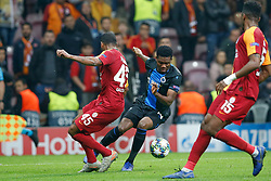 November 26, 2019, Galatasaray, Turkey: Galatasaray's Marcos do Nascimento Teixeira and Club's David Okereke fight for the ball during a game between Turkish club Galatasaray and Belgian soccer team Club Brugge, Tuesday 26 November 2019 in Istanbul, Turkey, fifth match in Group A of the UEFA Champions League. (Credit Image: © Bruno Fahy/Belga via ZUMA Press)