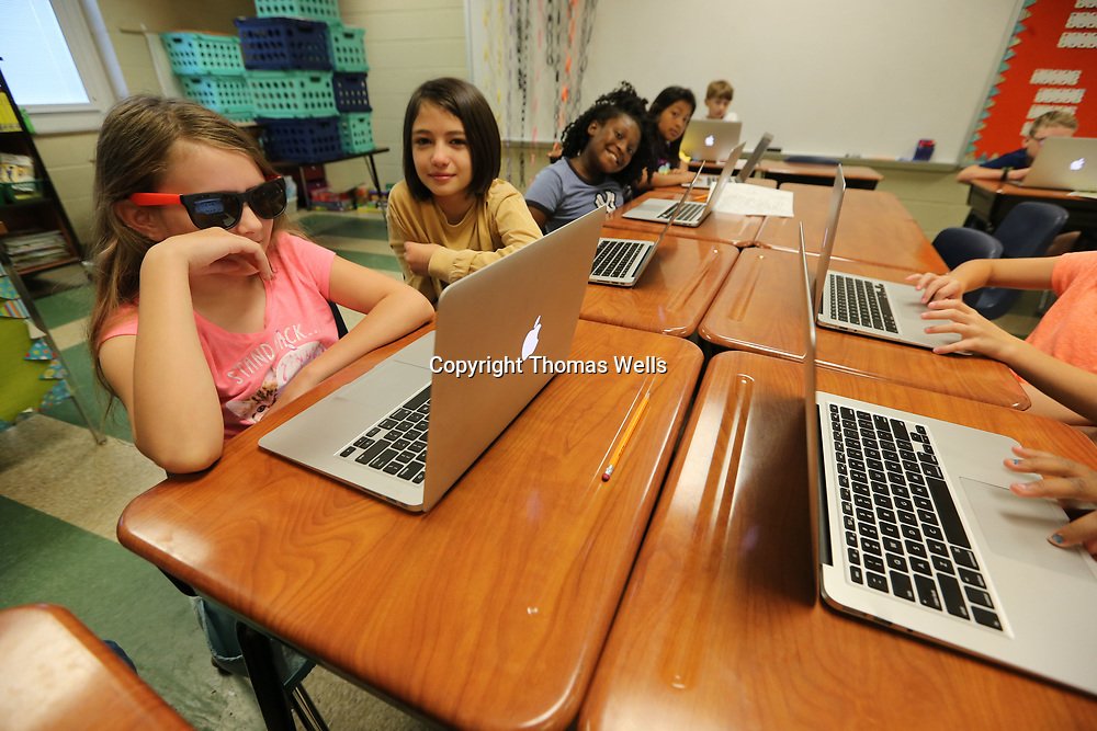 Abby Cavanugh decided to be cool for her last day at Corinth lementary School and wore her sunglasses throughout the day.