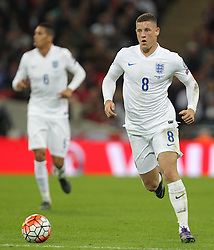Ross Barkley of England - Mandatory byline: Paul Terry/JMP - 07966 386802 - 09/10/2015 - FOOTBALL - Wembley Stadium - London, England - England v Estonia - European Championship Qualifying - Group E