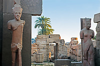 Statue in the Karnak temple in luxor upper egypt