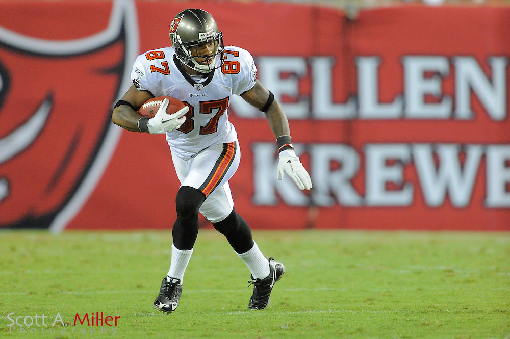 Tampa Bay Buccaneers wide receiver Preston Parker (87) during the Bucs game against the New England Patriots at Raymond James Stadium on Aug. 18, 2011 in Tampa, Fla...SPECIAL TO FOXSPORTS.COM/SCOTT A. MILLER