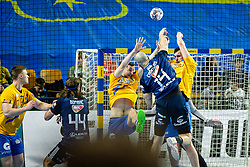 during handball match between RK Celje Pivovarna Lasko (SLO) and of MOL Pick Szeged (HUN) in 9th Round of EHF Champions League 2019/20, on November 24, 2019 in Arena Zlatorog, Celje, Slovenia. Photo Grega Valancic / Sportida