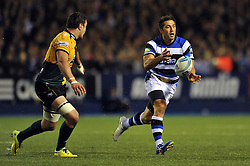 Gavin Henson (Bath) passes the ball - Photo mandatory by-line: Patrick Khachfe/JMP - Tel: Mobile: 07966 386802 23/05/2014 - SPORT - RUGBY UNION - Cardiff Arms Park, Cardiff - Bath Rugby v Northampton Saints - Amlin Challenge Cup Final.
