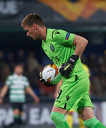 February 21, 2019 - Villarreal, Castellon, Spain - Romain Salin of Sporting Lisboa during the UEFA Europa League Round of 32 Second Leg match between Villarreal and Sporting Lisboa at Estadio de La Ceramica on February 21, 2019 in Vila-real, Spain. (Credit Image: © Maria Jose Segovia/NurPhoto via ZUMA Press)