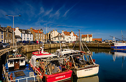 Fishing boats tied up in the harbour at Pittenweem, Fife.<br /> <br /> (c) Andrew Wilson | Edinburgh Elite media