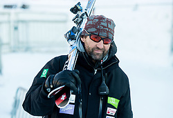 "Andrea Massi, coach of Maze Tina (SLO) in finish area after the FIS Alpine Ski World Cup 2014/15 5th Ladies' Slalom race named ""Snow Queen Trophy 2015"", on January 4, 2015 in Course Crveni Spust at Sljeme hill, Zagreb, Croatia.  Photo by Vid Ponikvar / Sportida"
