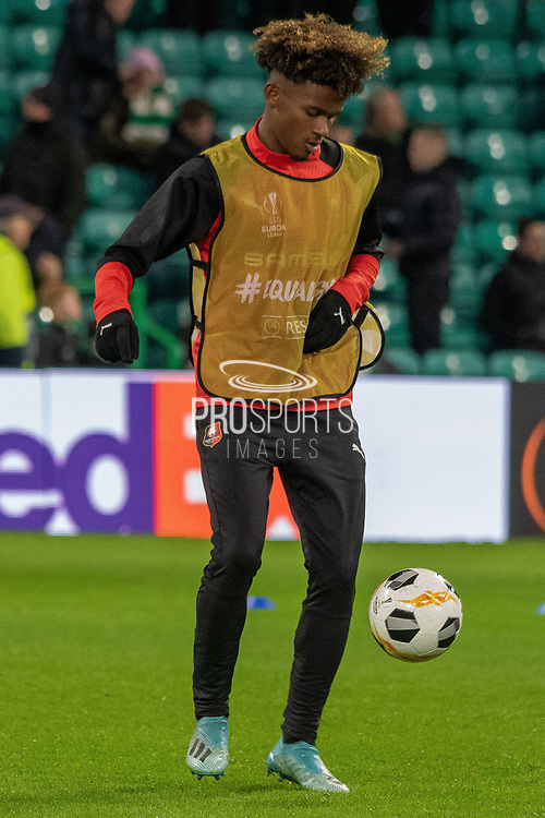 Yann Gboho (34) of Rennes ahead of the Europa League match between Celtic and Rennes at Celtic Park, Glasgow, Scotland on 28 November 2019.