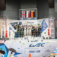 Podium GTE AM at FIA WEC 6 Hours of Silverstone 2017, Silverstone International Circuit, on 16.04.2017