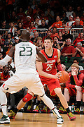 January 13, 2013: Alex Len #25 of Maryland in action during the NCAA basketball game between the Miami Hurricanes and Maryland Terrapins at the BankUnited Center in Coral Gables, FL. The Hurricanes defeated the Terrapins 54-47.
