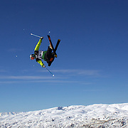 Nicholas Goepper, USA, in action during the Men's Freeski Big Air competition at Cardrona, New Zealand during the Winter Games. Wanaka, New Zealand, 20th August 2011. Photo Tim Clayton