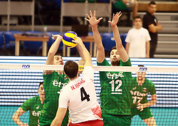June 16, 2018 - Varna, Bulgaria - from left Boyan YORDANOV (Bulgaria), Nicholas HOAG (Canada), Viktor YOSIFOV (Bulgaria), .mens Volleyball Nations League,week 4, Bulgaria vs Canada, Palace of culture and sport, Varna/Bulgaria, June 16, 2018, the fourth of 5 weekends of the preliminary lap in the new established mens Volleyball Nationas League takes place in Varna/Bulgaria. (Credit Image: © Wolfgang Fehrmann via ZUMA Wire)