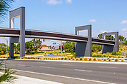 Stainless Steel Pedestrian Bridge Over Irvine Blvd