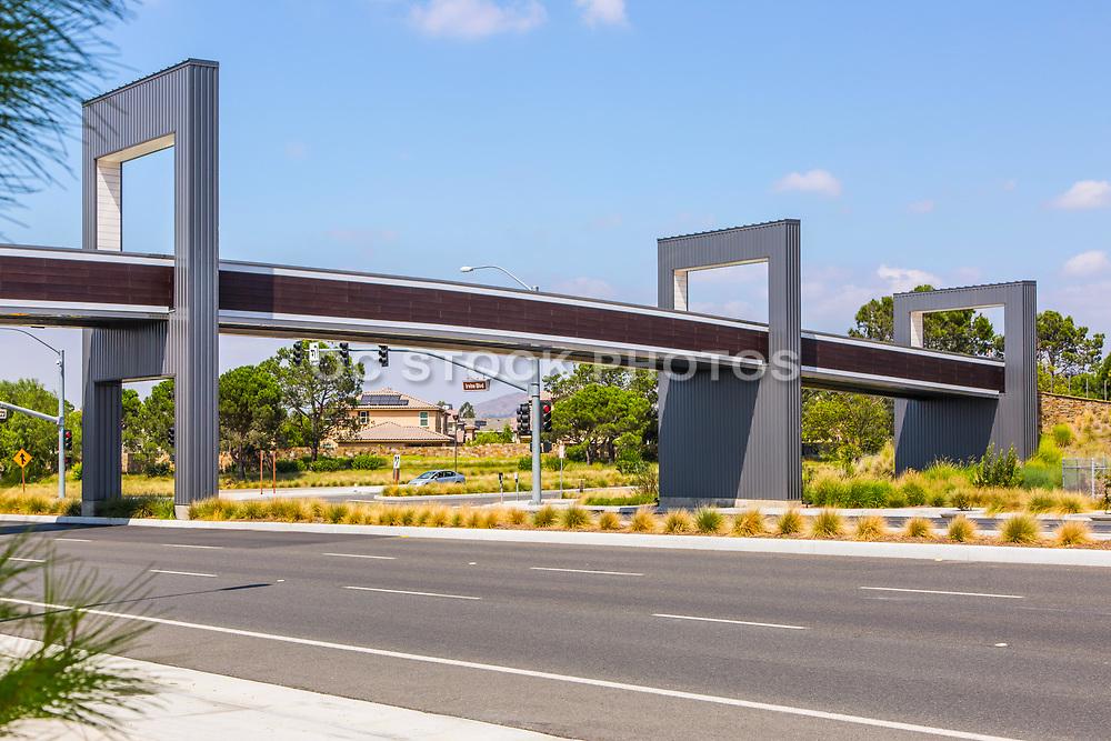 Stainless Steel Pedestrian Bridge Over Irvine Blvd