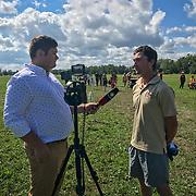 CBC Fredericton interview Waylon Roberts at Foshay International in Lower Jemseg, New Brunswick.