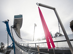02.01.2015, Bergisel Schanze, Innsbruck, AUT, FIS Ski Sprung Weltcup, 63. Vierschanzentournee, Vorberichte, im Bild ein Windfähnchen am Schanzentisch//a wind indicator at the ski jumping hill during preparation of 63rd Four Hills Tournament of FIS Ski Jumping World Cup at the Bergisel Hill in Innsbruck, Austria on 2015/01/02. EXPA Pictures © 2015, PhotoCredit EXPA/ Jakob Gruber