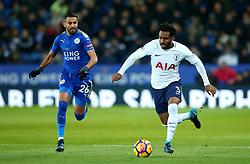 Danny Rose of Tottenham Hotspur goes past Riyad Mahrez of Leicester City - Mandatory by-line: Robbie Stephenson/JMP - 28/11/2017 - FOOTBALL - King Power Stadium - Leicester, England - Leicester City v Tottenham Hotspur - Premier League