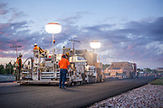 Simon Contracting paving the highway at E Lincolnway in Cheyenne, WY