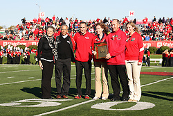 15 October 2011: Lockett family during an NCAA football game between the University of South Dakota Coyotes and the Illinois State Redbirds (ISU) at Hancock Stadium in Normal Illinois.
