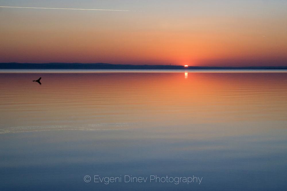Mandrensko lake sunset