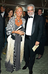 Actor OMAR SHARIF and COUNTESS NOEMI MARONE CINZANO at the Chain of Hope 10th Anniversary Ball held at The Dorchester, Park Lane, London on 1st November 2005.<br />
