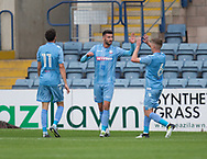 Bolton Wanderers&rsquo; Gary Madine is congratulated after scoring - Dundee v Bolton Wanderers pre-seson friendly at Dens Park, Dundee, Photo: David Young<br /> <br />  - &copy; David Young - www.davidyoungphoto.co.uk - email: davidyoungphoto@gmail.com